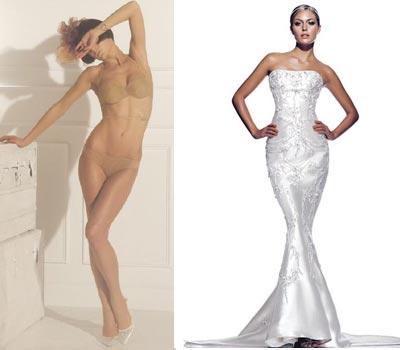 Как подобрать белье под обтягивающее свадебное платье