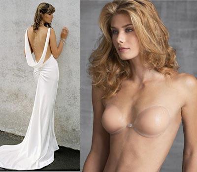 Как подобрать силиконовое белье под свадебное платье