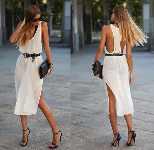 С чем носить платье-майку, чтобы выглядеть женственно
