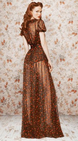 Полностью прозрачное платье Х-силуэта