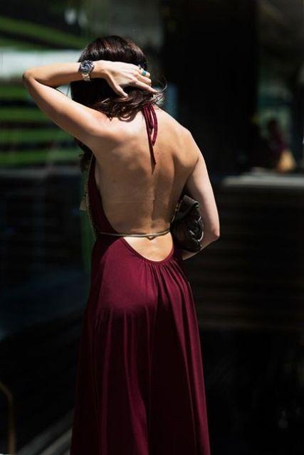 Какие бывают вечерние платья с открытой спиной