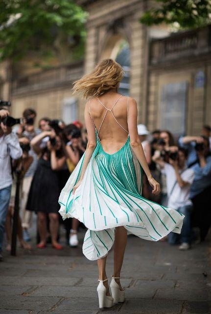 Вечерние платья с лямками и открытой спиной