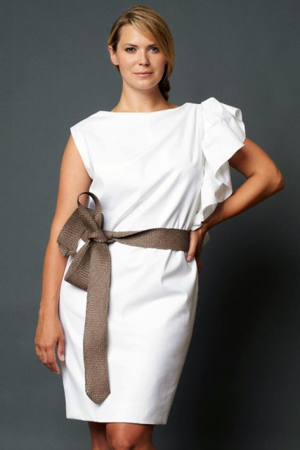удачные модели платьев для полных