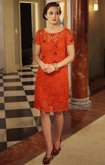как носить оранжевое платье