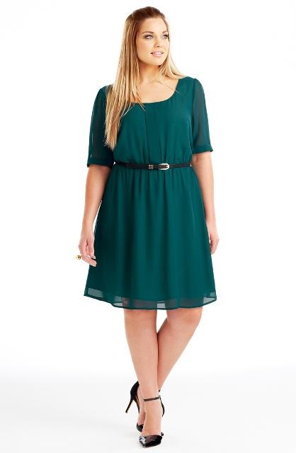 зеленое платье для полной девушки