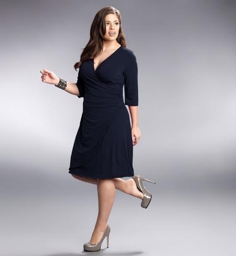 платье с запахом для полной женщины