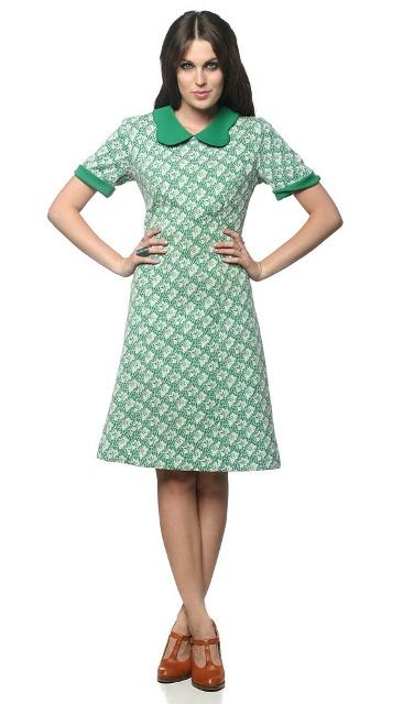 платье а-силуэта в ретро стиле