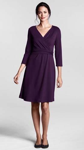 скрыть живот с помощью платья с запахом