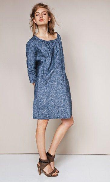 скрыть живот с помощью платья-туники