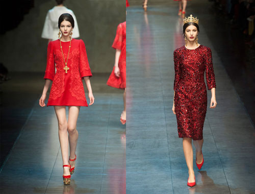 Модные платья 2014 от Dolce&Gabbana