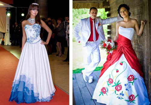 Купить платья в русско народном стиле