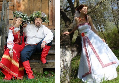 русские свадебные платья фото