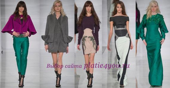 Antonio Berardi мода осень зима 14-15