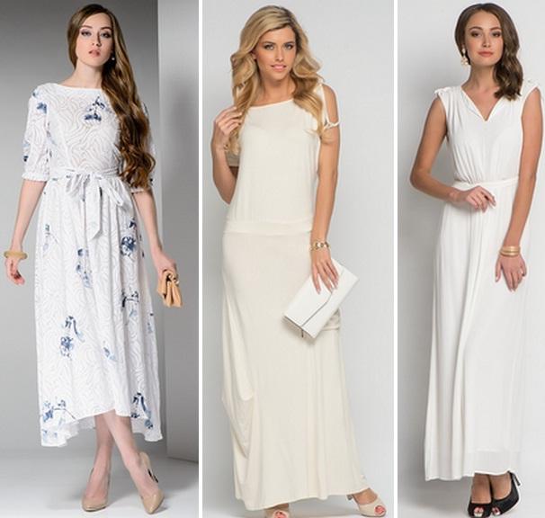 Длинное белое платье хлопок