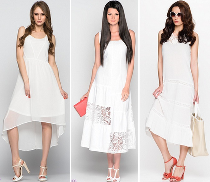 Что можно носить с белым платьем
