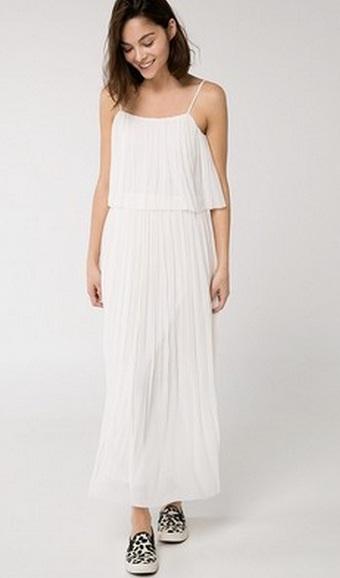 Белое летнее платье длинное фото