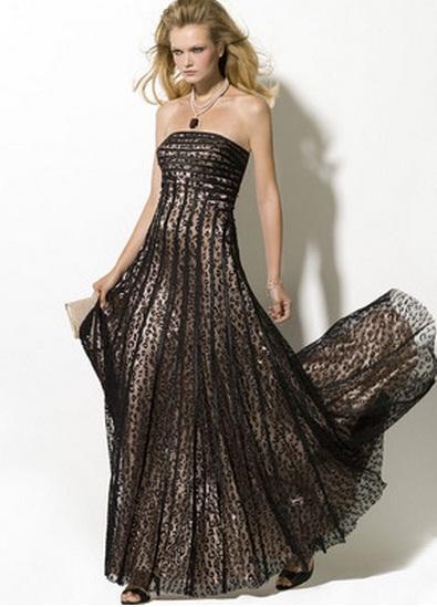 длинное платье леопардовой расцветки фото