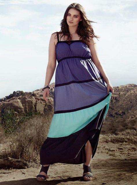 модные летние платья для полных