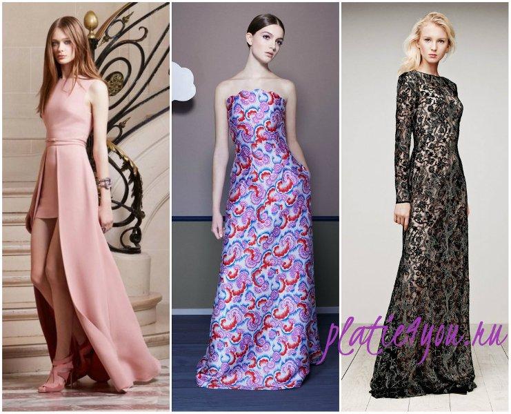 длинные выпускные платья 2015