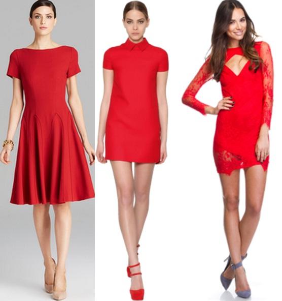 Что одеть к красному короткому платью