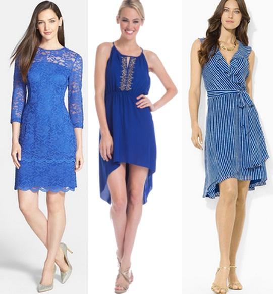 Туфли к вечернему голубому платью