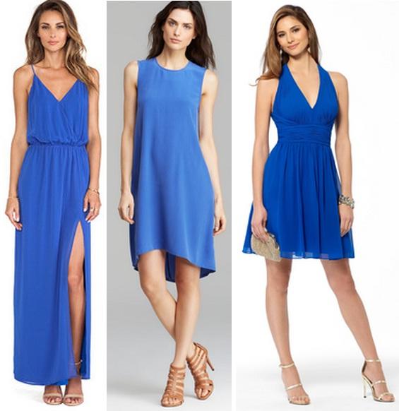 Фото обувь к синим платьям