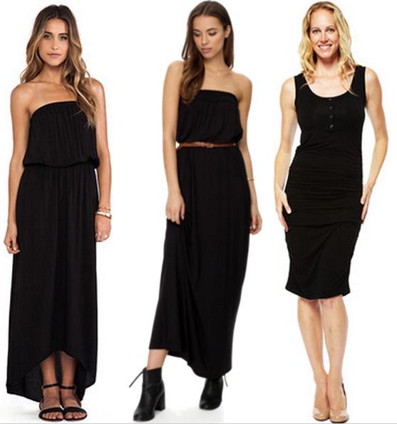 бежевые туфли под черное платье