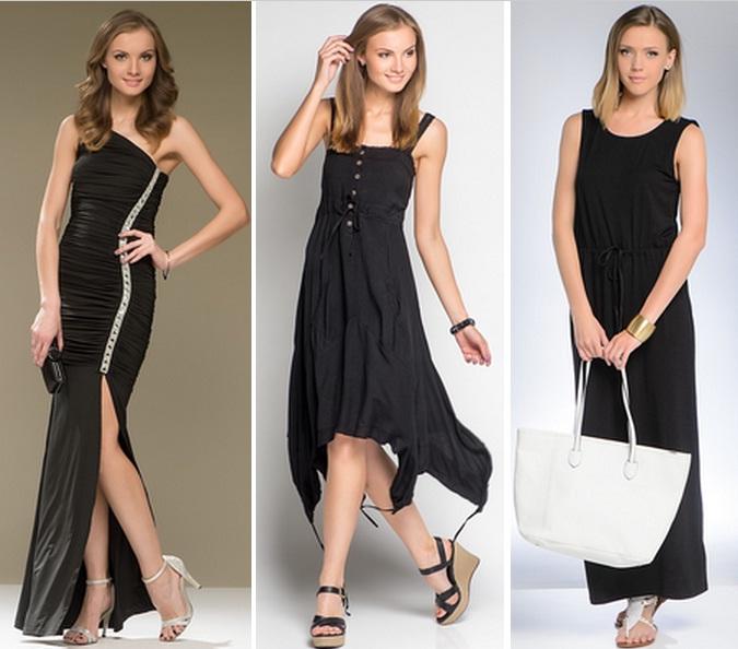 черное платье и белые туфли