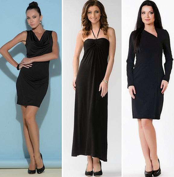 черное платье какие туфли фото