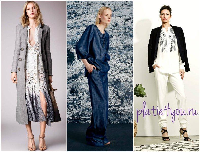 модные цвета 2015 - серый, синий, черно-белый