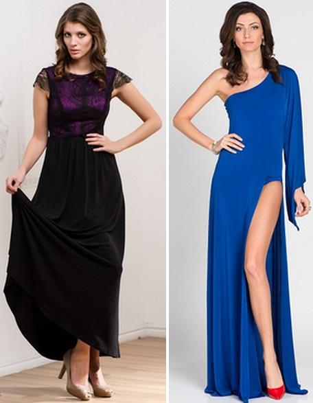 Сочетание синего платья с обувью