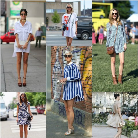 как носить короткое платье летом