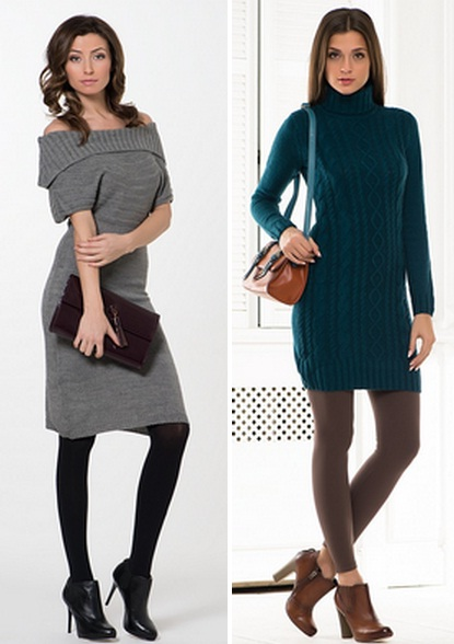платья с вязаной спиной