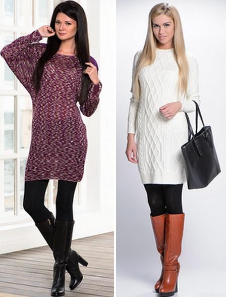 Зимний платья и сапог