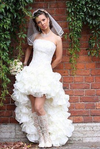 Свадебные Платья Перед Короткий Сзади Длинное