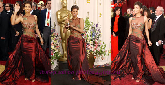 Холли Берри на премии Оскар в 2002 году