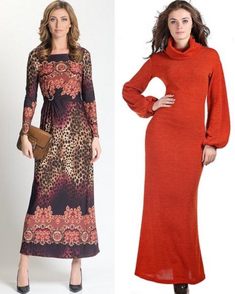 теплые длинные платья в пол фото