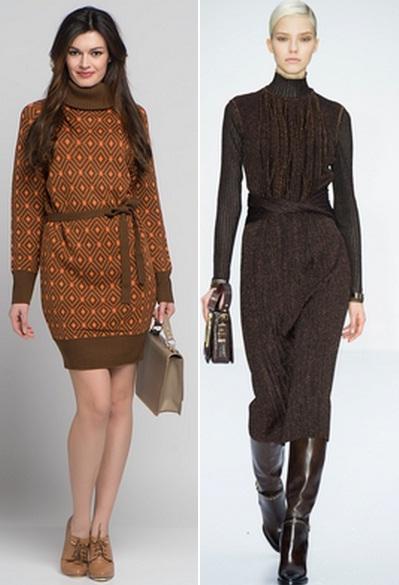 теплые платья для женщин
