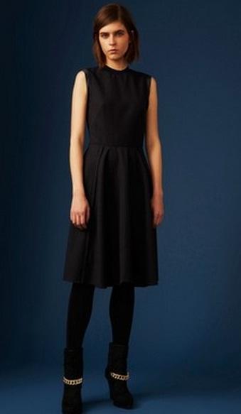 строгое черное платье