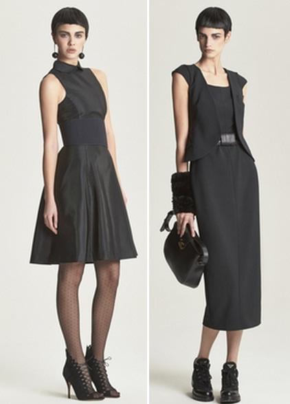 строгое черное платье с чем носить