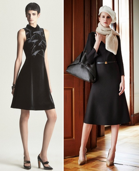 строгое черное платье 2015 фото