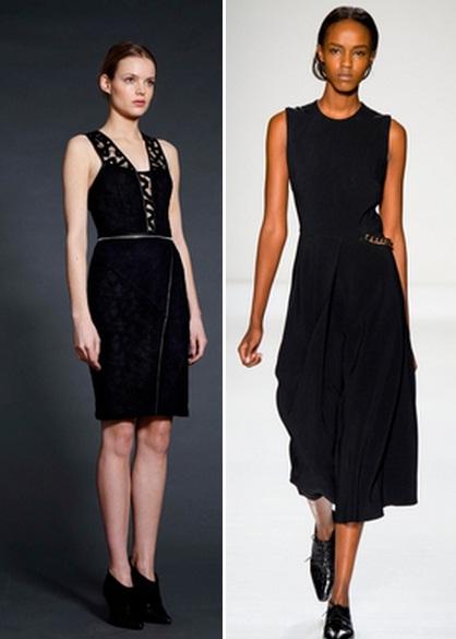 строгое черное платье фото