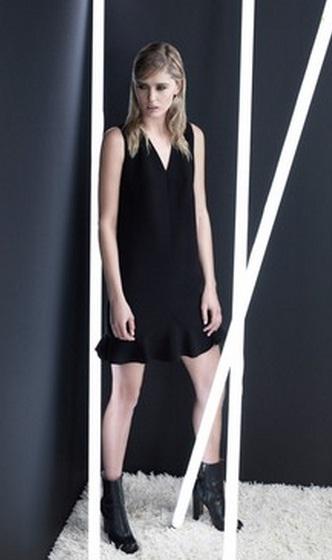 черные строгие платья