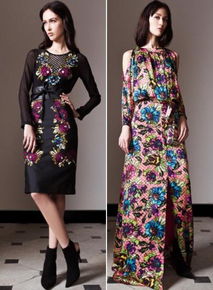 Платье с принтом цветы