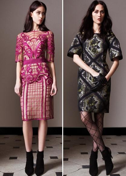 платья с цветным принтом фото