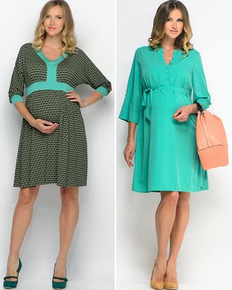 Теплые платья для беременных. фото