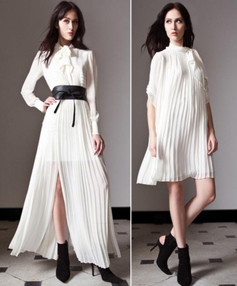 с чем носить белые платья