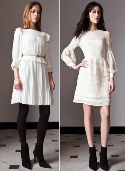 Светлое платье с чем носить фото