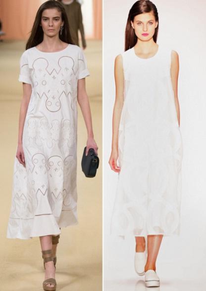 как носить белые платья фото