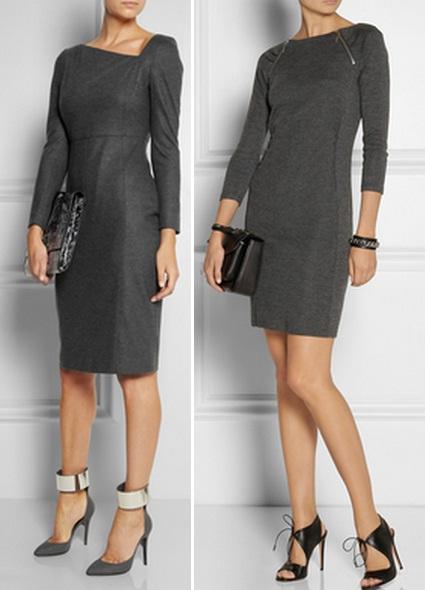 строгие офисные платья